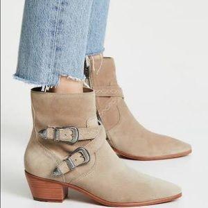 Frye Womens Ellen Buckle Short Western Boot